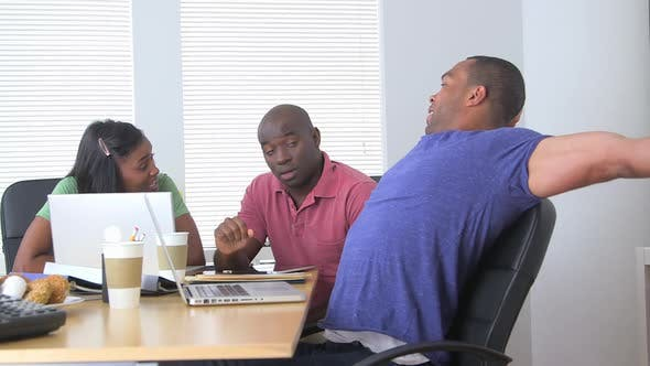 Thumbnail for Black business partners having a productive meeting