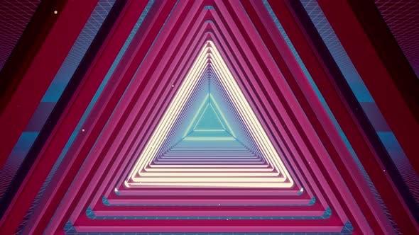 Thumbnail for Flying Tunnel Triangle Light Retro 01 4K