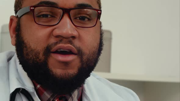 Thumbnail for African American Doctor Talking To the Camera