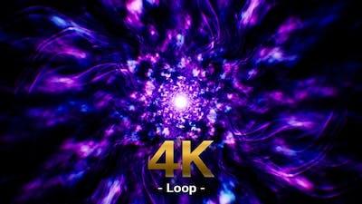 Neon Energy Wave Effect Loop 4K