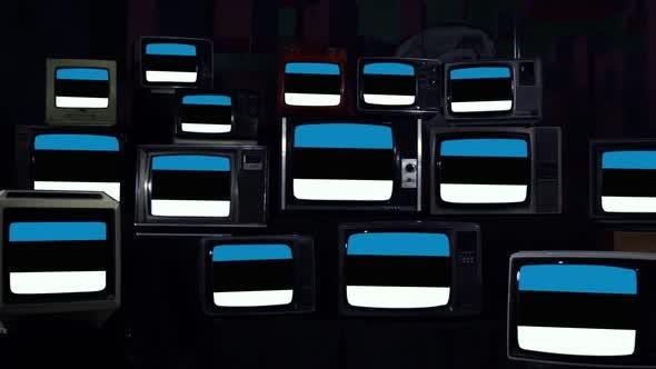 Thumbnail for Flags of Estonia on Retro TVs.