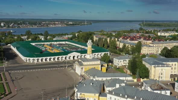 Thumbnail for Aerial View of Historical Center of Kostroma