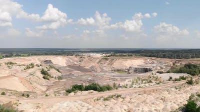 Iron ore quarry open mining