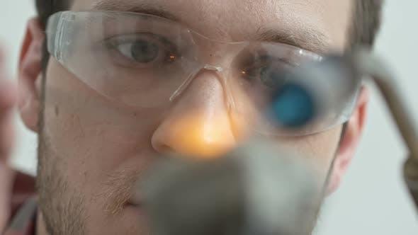 Jeweler Using Weld Gun