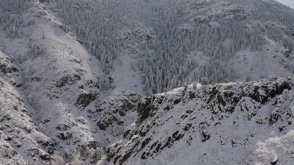 Thumbnail for Aerial shot of the beautiful winter landscape
