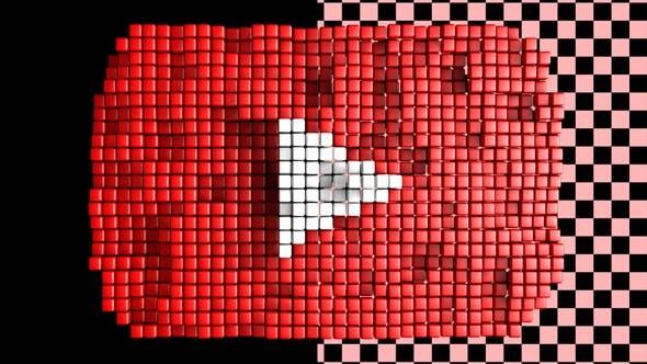Thumbnail for Youtube Logo - Voxel Style