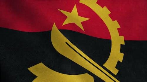 Angola Flag Waving in the Wind