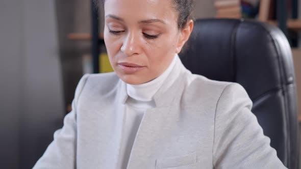 Female Handwriting in Office