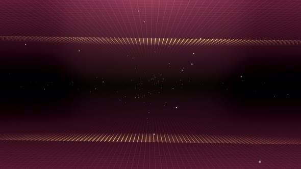 Thumbnail for Grid Tunnel Light Retro 02 4K