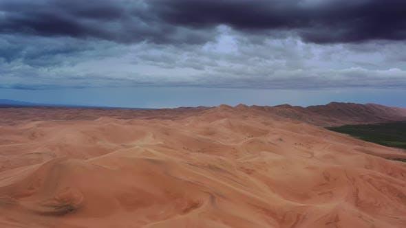 Thumbnail for Aerial View of Sand Dunes in Gobi Desert