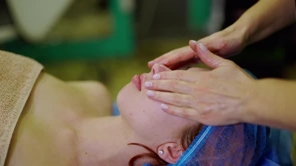 Thumbnail for Relaxing Beautiful Woman Having a Massage on a Face