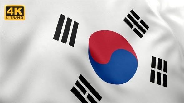 Thumbnail for Flag of South Korea - 4K