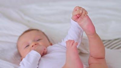 Closeup Little Heel of the Kid
