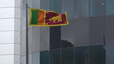 Sri Lanka Flag Background 2K