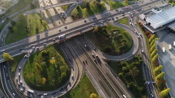 Thumbnail for Freeway Intersection Traffic Trails