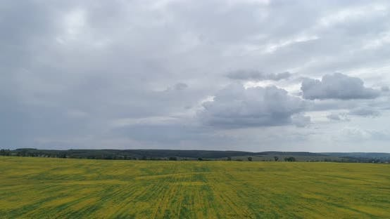 Timelapse Clouds. Landscapes Of Ukraine
