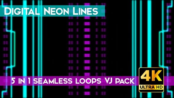 Thumbnail for Digital Neon Line VJ Loops