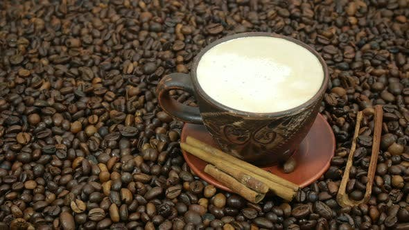 Thumbnail for Cappuccino And Coffee Beans