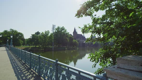 Thumbnail for Bridge across the pond in Budapest City Park
