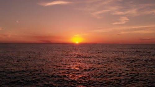 Morgendämmerung Im Ozean