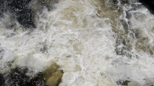 Turbulent Water in the River