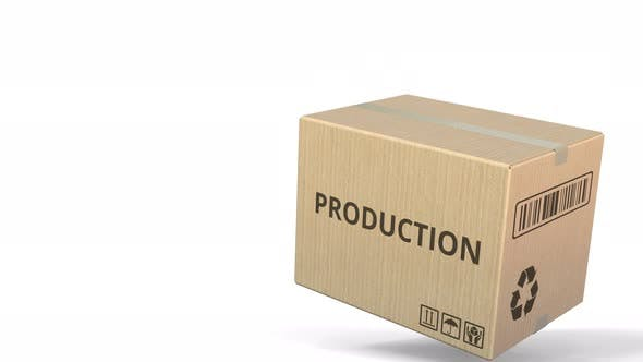 Thumbnail for PRODUCTION Text on a Warehouse Carton
