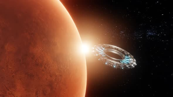 Exploring Mars Using Spaceships