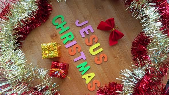 Thumbnail for Jesus Word with Christmas Decoration