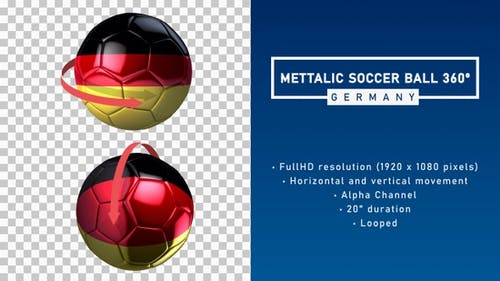 Metallic Soccer Ball 360º - Germany