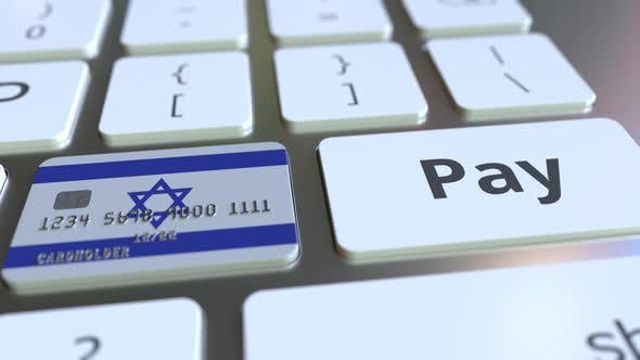 Thumbnail for Bank Card with Flag of Israel As a Key on a Keyboard