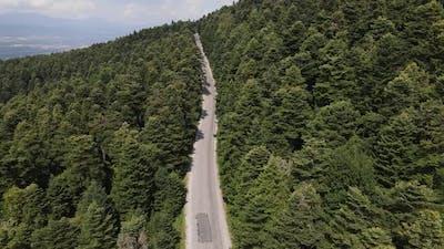 Aerial View Asphalt Road