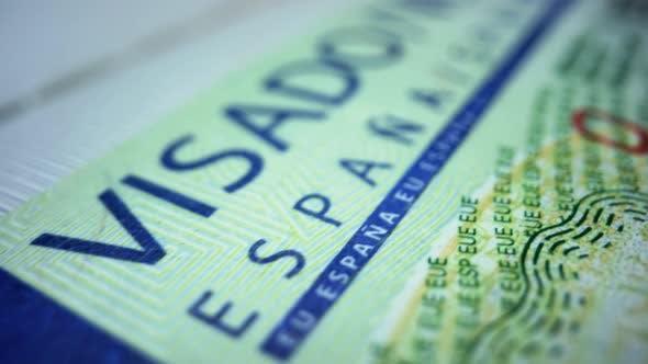 Biometric Passport with Spanish Visa. Schengen Visa for Tourism and Travel in EU
