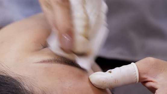 Thumbnail for Microblading Procedure, Master Works with The Eyebrows