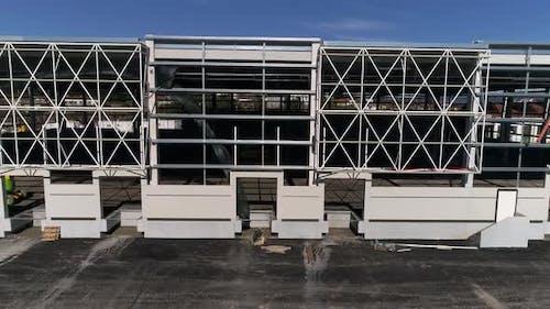 Facade of New Building Construction