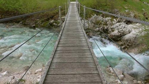 View of Bridge Over Soca River Slovenia