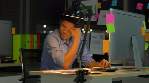 Business man hard working