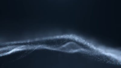 Glitter Particles Flowing Background