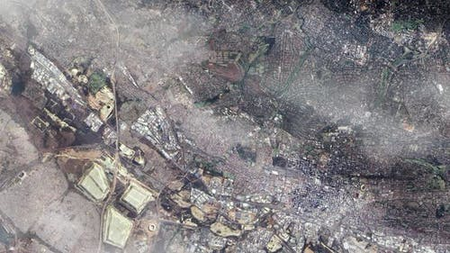 The City of Johannesburg from Space.