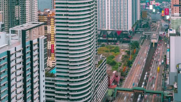 Aerial View of Manila City with Skyscrapers and Buildings