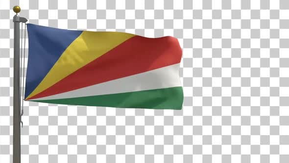 Thumbnail for Seychelles Flag on Flagpole with Alpha Channel