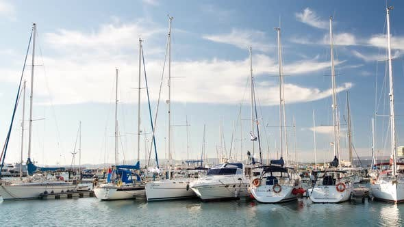 Thumbnail for Time lapse of yachts and boats, marina