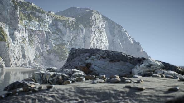 Thumbnail for Sand Beach Among Rocks at Atlantic Ocean Coast in Portugal