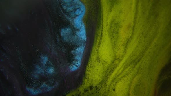 Thumbnail for Mixture Of Colored Paints Flowing
