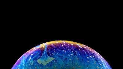 Macro Soap Bubble Made with Dish Soap