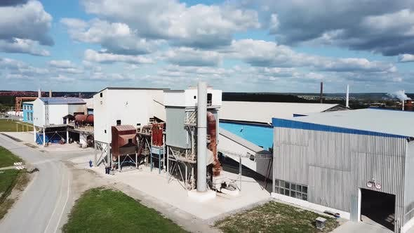 Thumbnail for Aerial view of cement production plant