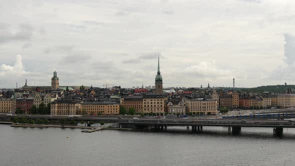 Thumbnail for View from Södermalm over Gamla Stan old town Stockholm