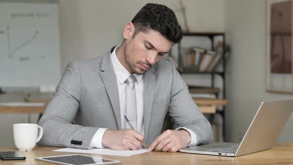 Thumbnail for Businessman Writing Letter, Application