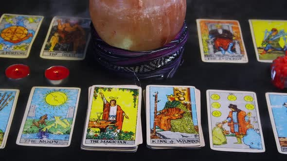 Thumbnail for Deck Of Tarot Cards Spread On Table 10