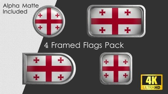 Thumbnail for Framed Georgia Flag Pack