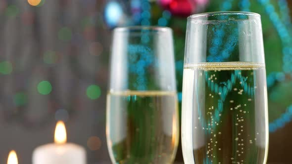 Thumbnail for Champagne Pouring and Foaming in Glasses
